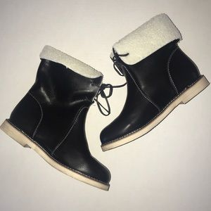 Men's Black Shearling Boots